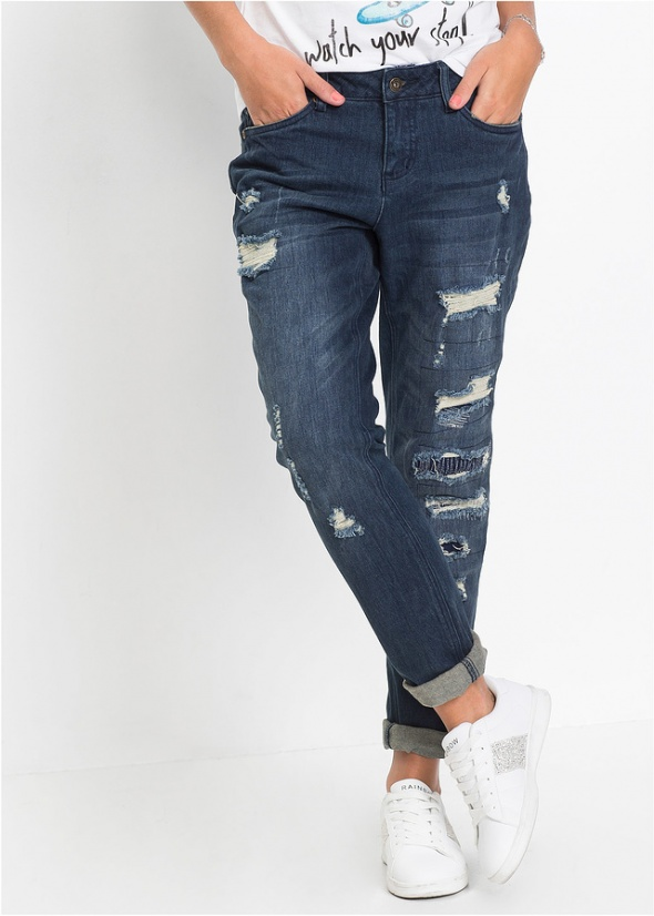 Bon prix spodnie jeansy boyfriend jak nowe duże 46...