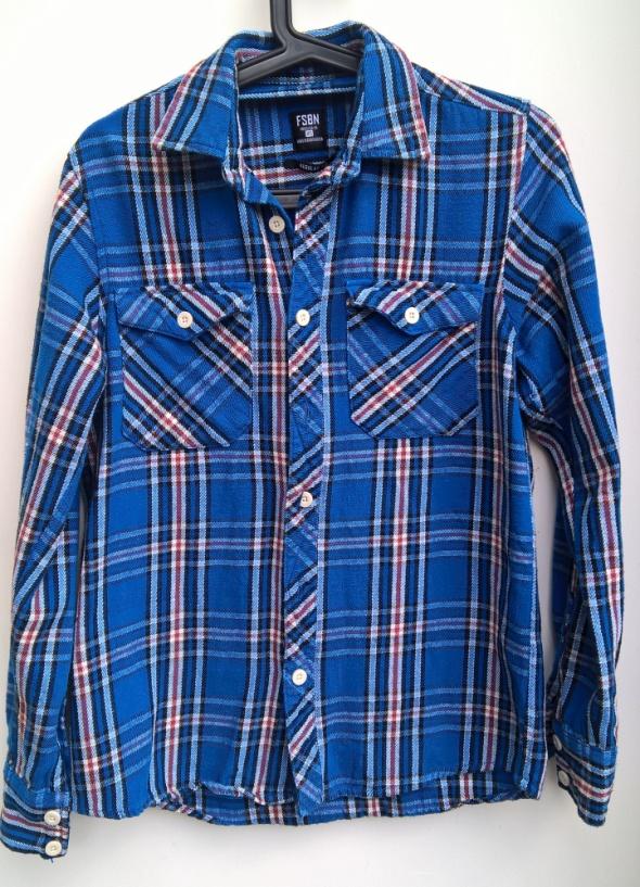 Fishbone koszula flanelowa w kratę krata boyfriend...
