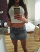 mini jeans spodniczka sexy...