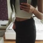 Elegancka czarna spódnica galowa czarna
