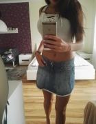 spódnica s falbanki jeans...