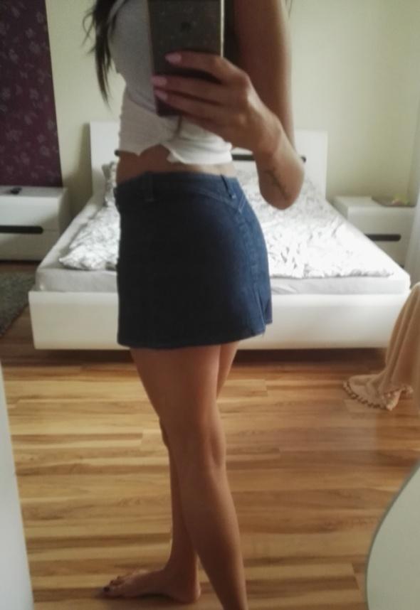spódnica mini jeans granat
