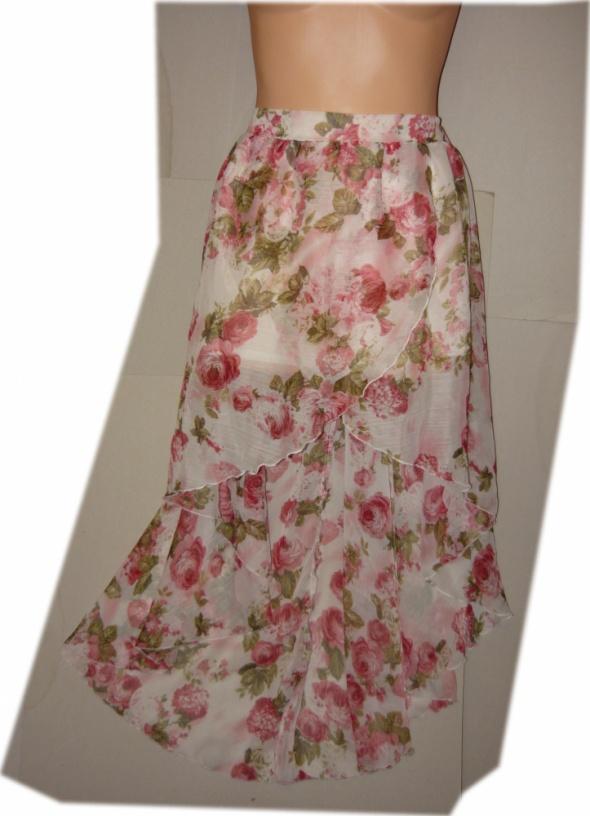 Parisian spódnica asymetryczna róże bajeczna 42 44