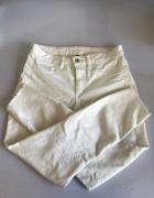 Białe spodnie rurki Calzedonia 38 M...