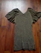 Zjawiskowa złota butelkowa zieleń suknia sukienka ASOS efekt mo...