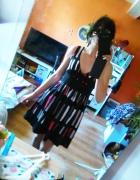 Mango rozkloszowana sukienka 36 S wzory guziki na...