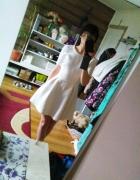 Bershka kremowa sukienka pikowana 36 38 rozkloszowana...