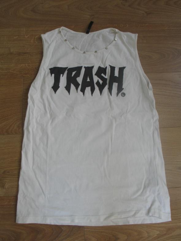 Koszulka bez rękawa Trash