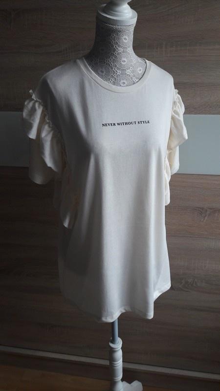 Nowa bluzka z falbanami Pull&Bear napis 38 oversize...