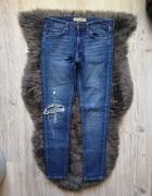 Topshop spodnie rurki dziury baxter 36...