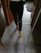 Topshop spodnie rurki czarne jamie xs s petite...