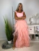Maxi tiulowa sukienka hit