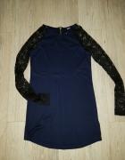 sukieneczka tuniczka koronkowe rekawki