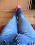 Długie jeansy rurki rozm 27