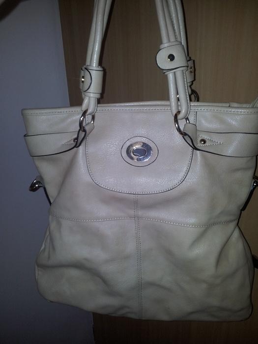 Kremowa torba A4