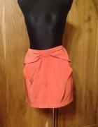 H&M piękna koralowa spódnica modna 38...