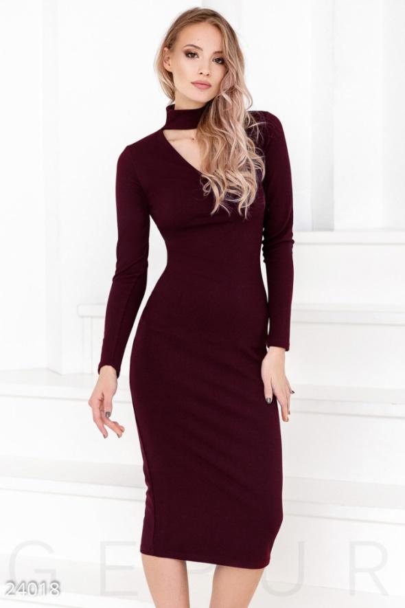 21d5751870 Bordowa sukienka midi z chokerem rozmiar ML w Suknie i sukienki ...