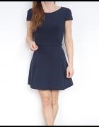 sukienka fakturowa rozkloszowana 36