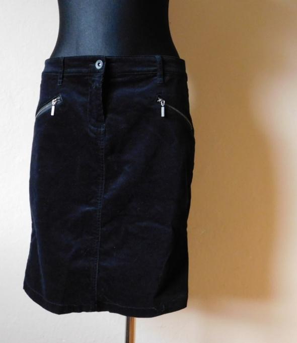 Spódnice Next czarna spódnica sztruks 38 40