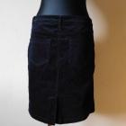 Next czarna spódnica sztruks 38 40