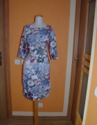 Prześliczna sukienka dzininowa w kwiaty rozmiar 36
