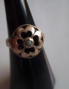 srebrny pierścionek Warmet koniczynka