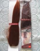 Zestawy rudych dopinek do włosów
