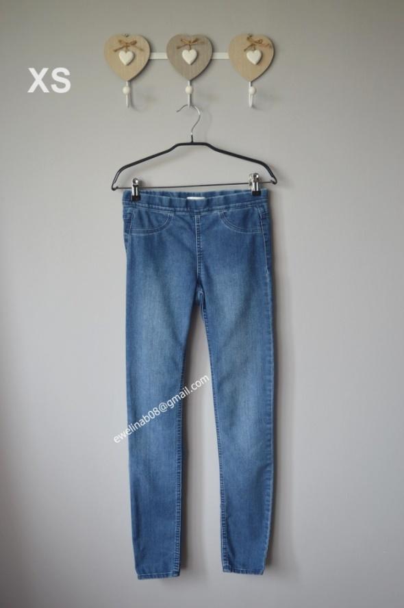 spodnie jeans gumka 34