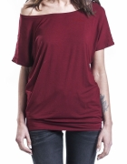 Bordowa bluzka oversize nietoperz emp