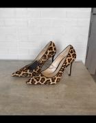 Zara nowe szpilki leopard panterka 36 panterkowe skórzane skóra...