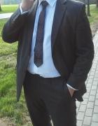 Grafitowy garnitur Bytom krawat gratis