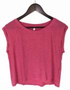Ciemno różowa koszulka...