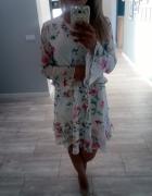 Sukienka Mohito xs s 34 36 zwiewna lekka w kwiaty szyfonowa...