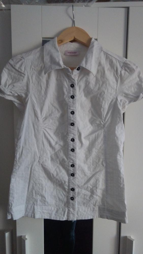 Biała bluzeczka wizytowa S M