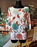 tu bluzka modny wzór kwiaty floral jak nowa hit 40 L...