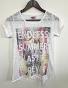 Delikatnie prześwitująca koszulka ENDLESS SUMMER LAST FOREVER...