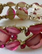 bransoletka w kolorze biskupim cyrkonie