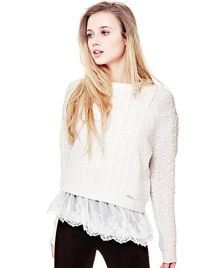 Ubrania sweter guess z koronką poszukiwany proszę o pomoc