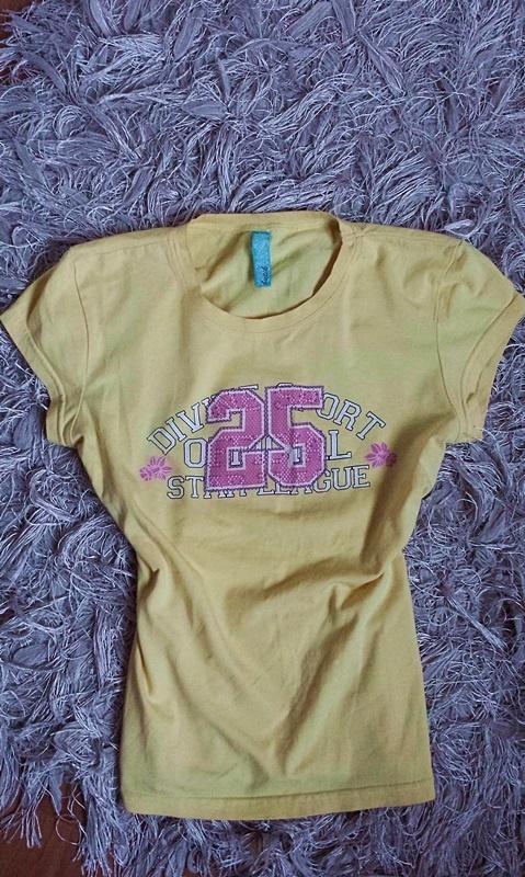 Bluzka t shirt żółta cytrynowa kanarkowa z numerem...