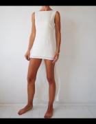 Glamorous sukienka kremowa asymetryczna...