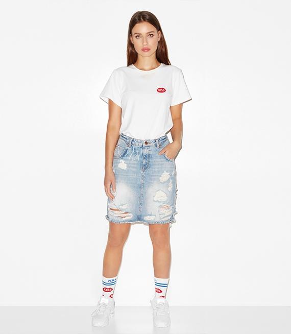 PLNY LALA koszulka Petite Kiss French Fit White w Koszulki