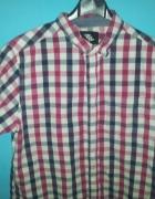 Koszula z krótkim rękawem w kratkę M