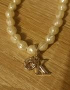 Bransoletka perełki z literą K