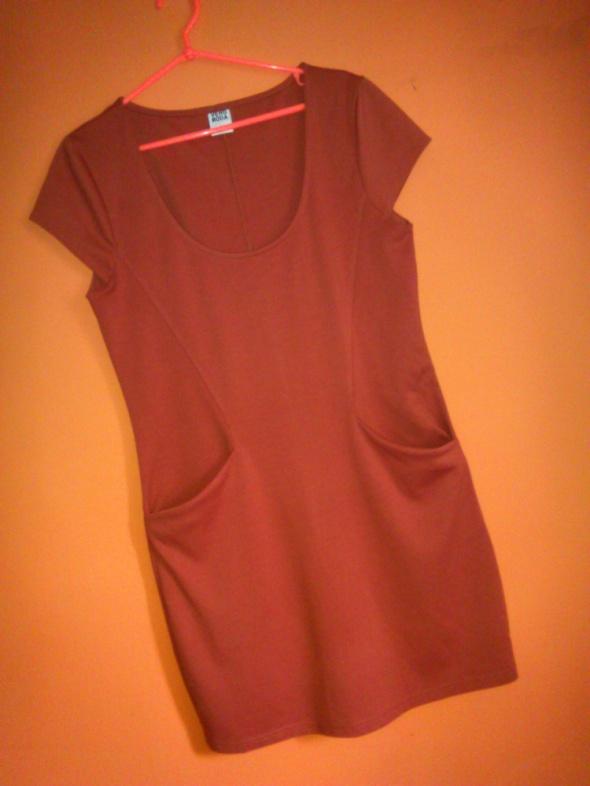 Vero Moda ruda sukienka kieszenie 40 42 L XL...