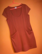 Vero Moda ruda sukienka kieszenie 40 42 L XL
