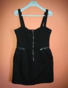George czarna sukienka dresowa 38 M zip mini...