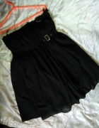 Warehouse czarna sukienka rozkloszowana 40 L baweł...