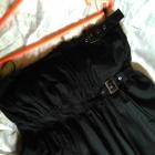 Warehouse czarna sukienka rozkloszowana 40 L baweł