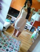 Attentif ecru sukienka mini 38 M elegancka stan b...