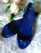 Next nowe meliski balerinki 40 niebieskie gumowe k...